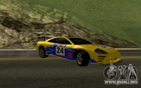 Mitsubishi Eclipse GTS Tunable para vista inferior GTA San Andreas