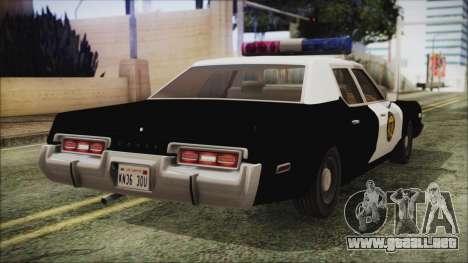 Dodge Monaco 1974 LVPD IVF para GTA San Andreas left