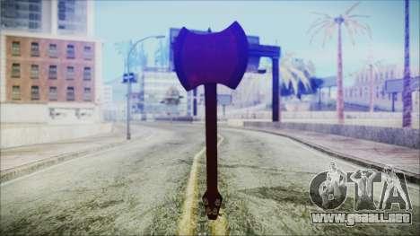 Ax Bass HD from Adventure Time para GTA San Andreas tercera pantalla