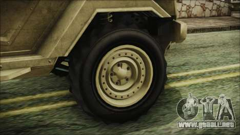 GTA 5 HVY Insurgent Pick-Up para GTA San Andreas vista posterior izquierda