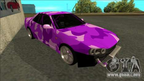 Nissan Skyline R34 Drift para GTA San Andreas left