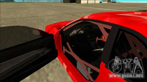 Nissan Skyline R34 Drift Red Star para visión interna GTA San Andreas