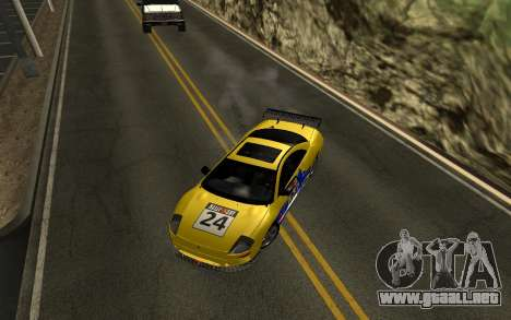 Mitsubishi Eclipse GTS Tunable para vista lateral GTA San Andreas