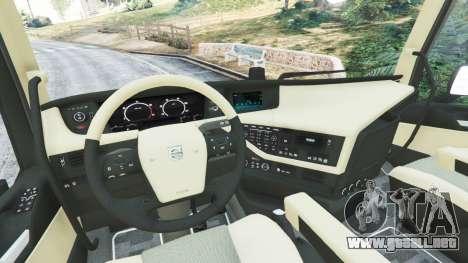 GTA 5 Volvo FH 750 2014 vista lateral trasera derecha