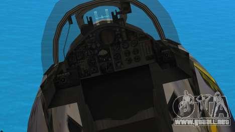 McDonnell Douglas F-4N Hellenic Air Force para GTA San Andreas vista hacia atrás