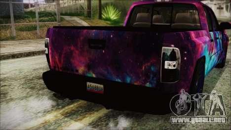 GMC Sierra Galaxy para GTA San Andreas vista hacia atrás