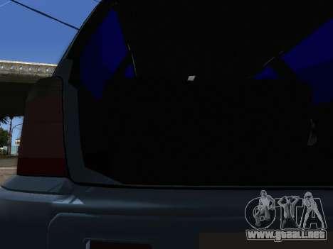 Subaru Forester 1998 para vista lateral GTA San Andreas