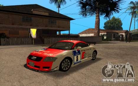 Audi TT 2004 Tunable para GTA San Andreas vista hacia atrás