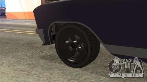GTA 5 Albany Lurcher Cabrio Style para GTA San Andreas vista posterior izquierda