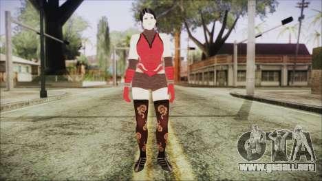 Tekken Tag Tournament 2 Zafina Dress v2 para GTA San Andreas segunda pantalla