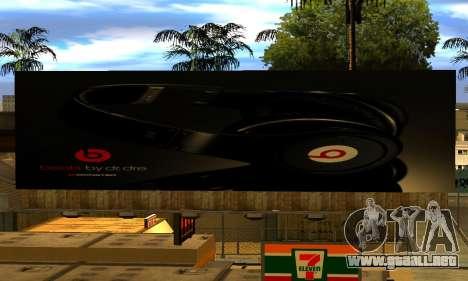 Monster Beats Studio by 7 Pack para GTA San Andreas sucesivamente de pantalla