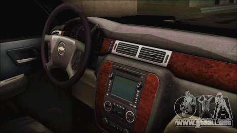 Chevrolet Silverado Triple Door para la visión correcta GTA San Andreas
