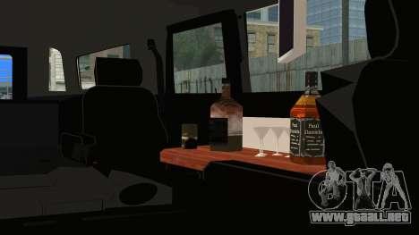 Hummer H1 Limo 6x6 para la visión correcta GTA San Andreas