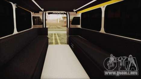Markshop Jeepney para GTA San Andreas vista hacia atrás