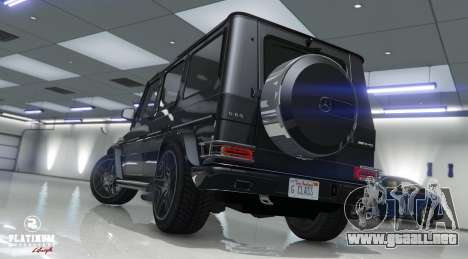 GTA 5 Mercedes-Benz G63 AMG v1 vista trasera