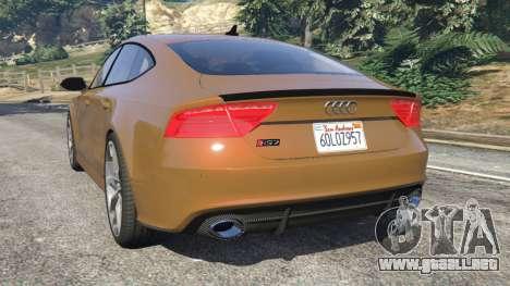 GTA 5 Audi RS7 2016 vista lateral izquierda trasera