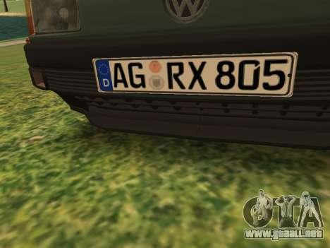 Volkswagen Passat B3 para vista inferior GTA San Andreas