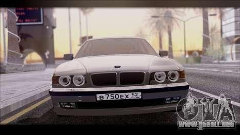 BMW 7-er E38 para GTA San Andreas vista posterior izquierda
