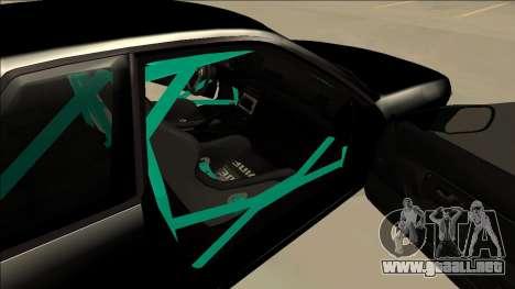 Nissan Skyline R32 Drift para GTA San Andreas vista hacia atrás