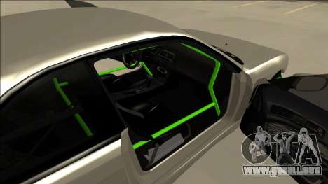 Nissan Silvia S14 Drift Monster Energy para GTA San Andreas vista hacia atrás