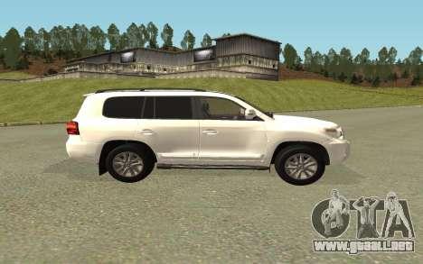 Toyota Land Cruiser 200 Bulkin Edition para GTA San Andreas vista posterior izquierda