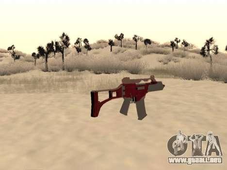 La navidad G36c camo para GTA San Andreas segunda pantalla