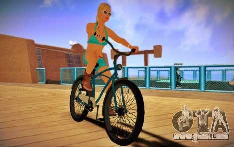 GTA V Cruiser Bike para GTA San Andreas vista posterior izquierda