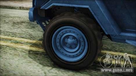 GTA 5 HVY Insurgent Pick-Up IVF para GTA San Andreas vista posterior izquierda