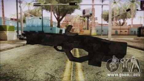 Cyberpunk 2077 Rifle Camo para GTA San Andreas segunda pantalla