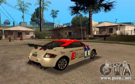Audi TT 2004 Tunable para visión interna GTA San Andreas