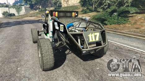 GTA 5 Ickler Jimco Buggy [Beta] vista lateral izquierda trasera