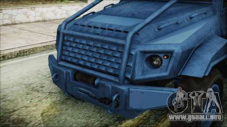 GTA 5 HVY Insurgent Pick-Up IVF para visión interna GTA San Andreas