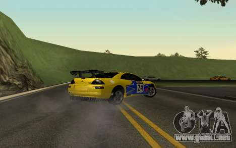 Mitsubishi Eclipse GTS Tunable para la vista superior GTA San Andreas