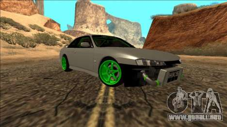 Nissan Silvia S14 Drift Monster Energy para GTA San Andreas vista posterior izquierda