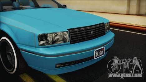 GTA 5 Albany Primo Custom Bobble Version IVF para visión interna GTA San Andreas