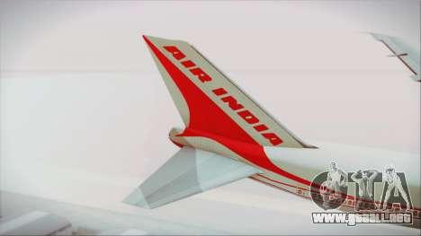 Boeing 747-237Bs Air India Chandragupta para GTA San Andreas vista posterior izquierda