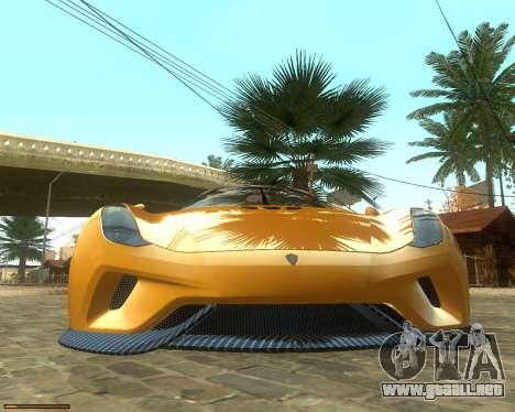 Koenigsegg Regera 2015 para visión interna GTA San Andreas