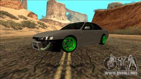 Nissan Silvia S14 Drift Monster Energy para la visión correcta GTA San Andreas