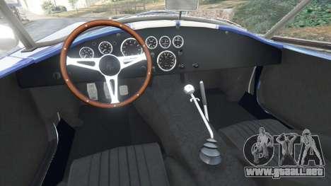 GTA 5 AC Cobra v1.3 vista lateral trasera derecha