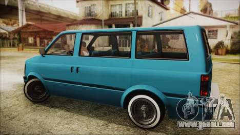 GTA 5 Declasse Moonbeam No Interior para GTA San Andreas left