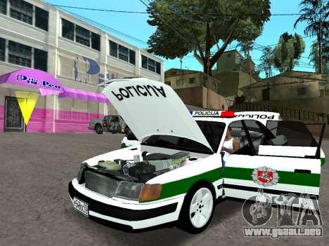 Audi 100 C4 1995 Police para GTA San Andreas vista hacia atrás
