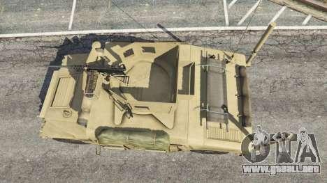 GTA 5 HMMWV M-1116 [desert] vista trasera