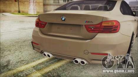 BMW M4 Coupe para GTA San Andreas vista hacia atrás