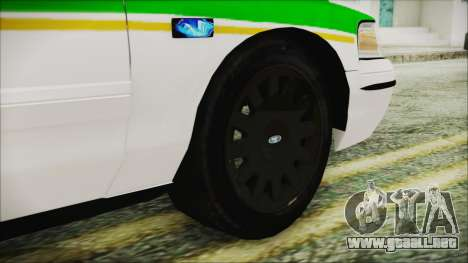 Ford Crown Victoria Miami Dade v2.0 para GTA San Andreas vista posterior izquierda