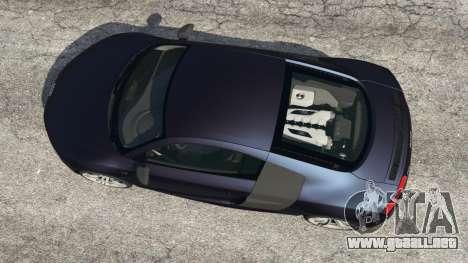 GTA 5 Audi R8 Quattro vista trasera