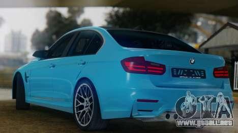 BMW M3 F30 SEDAN para la visión correcta GTA San Andreas