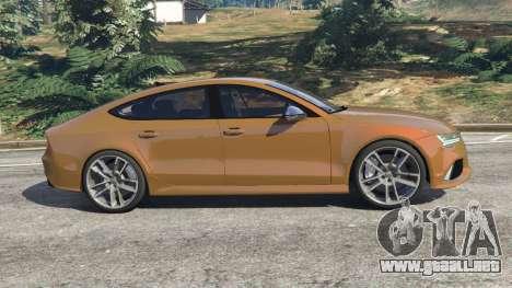 GTA 5 Audi RS7 2016 vista lateral izquierda