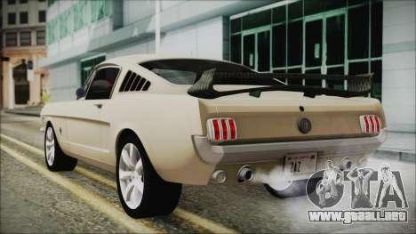 Ford Mustang Fastback 1966 Chrome Edition para GTA San Andreas left