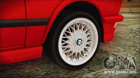 BMW M5 E28 1988 para GTA San Andreas vista posterior izquierda