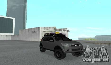 Toyota Terios 2009 OFF-ROAD MUD-TERRAIN para GTA San Andreas left